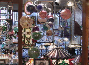 Blown glass ornaments selection is always changing