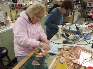 Stained glass student workshop