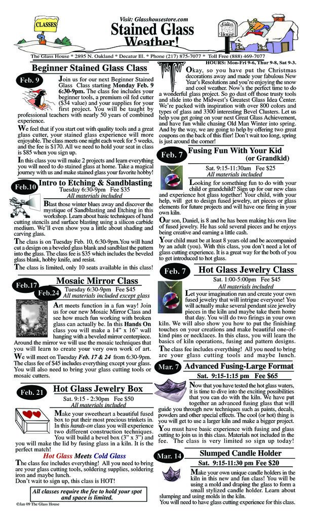 thumbnail of January 2009 Sale Flier Page 1