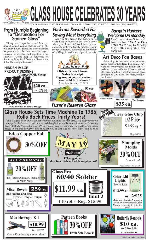 thumbnail of Stained Glass Sale Flier May 2015