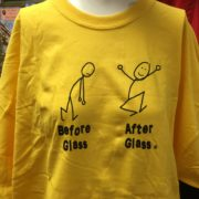 Before Glass and After Glass Tee Shirt - Yellow