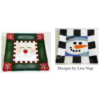 Fused glass Santa's cookie tray class