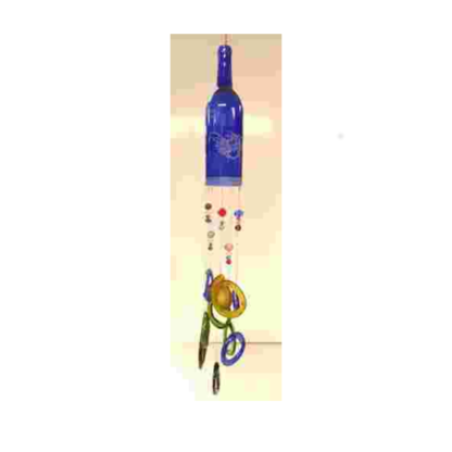 Wine bottle wind chime class project example