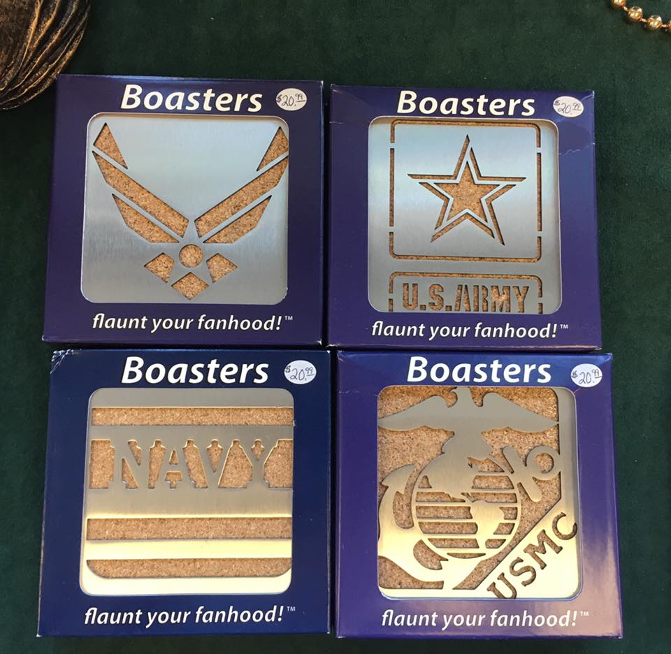 Military Stainless Steel Boaster Coasters