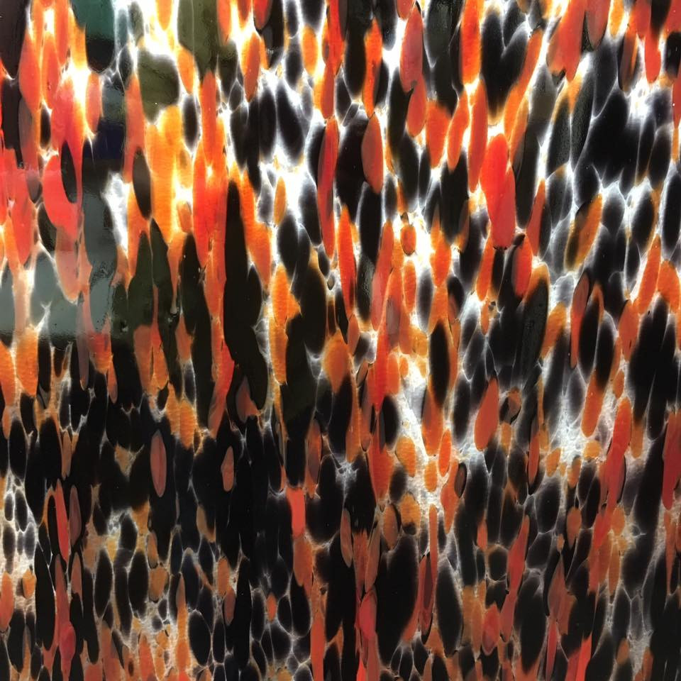 Spectrum Fusers Reserve Orange and Black Glass Sheet