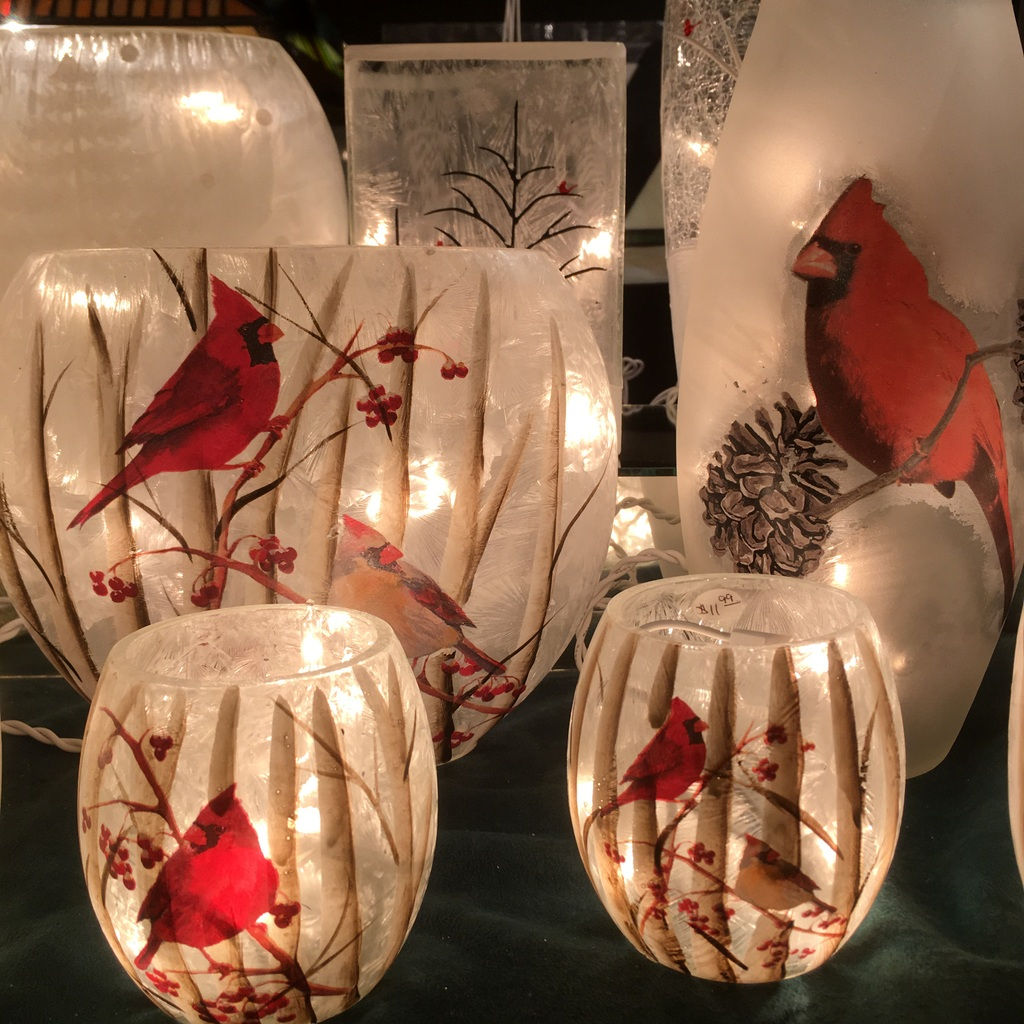 Cardinal Winter Table Lights in Assorted Sizes