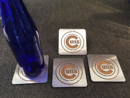 Chicago Cubs Stainless Steel Coasters