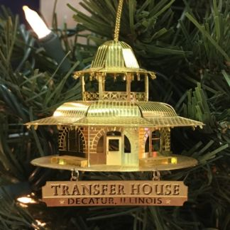 Decatur Transfer House-Brass 3-D Christmas Ornament