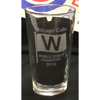 Chicago Cubs World Series 2016 Champions Pint Beer Glass