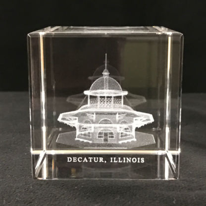 3D Lead Crystal Decatur Transfer House