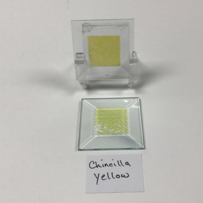"Yellow chinchilla glue chip 2"" x 2"" square glass stock bevel"