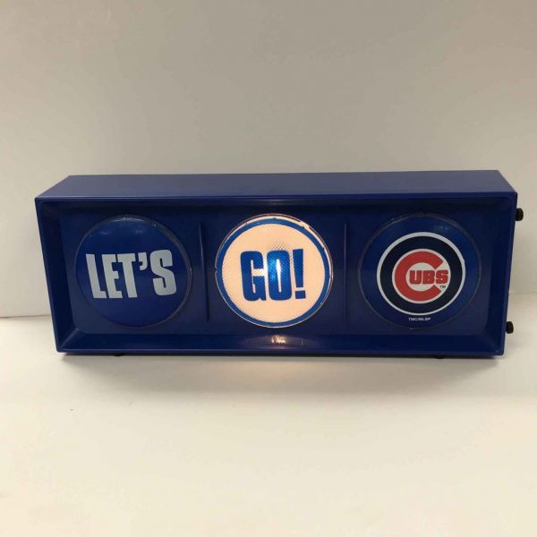 Lets go Chicago Cubs Traffic Light Horizontal view