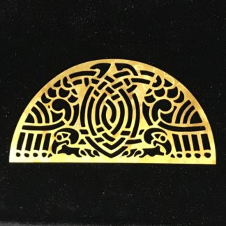 Celtic Dragon Brass Filigree