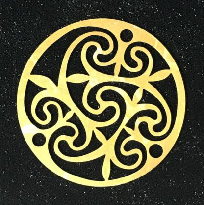 Celtic Swirl Brass Filigree